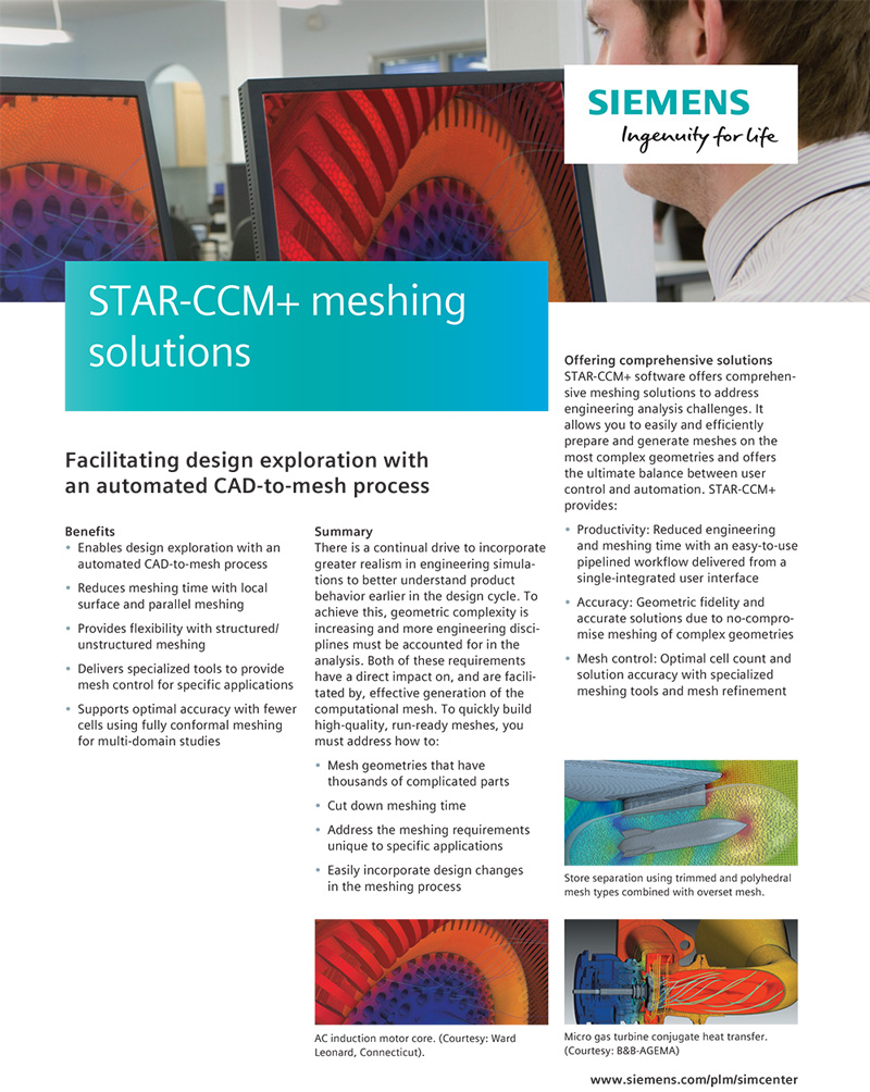 STAR-CCM+ meshing solutions