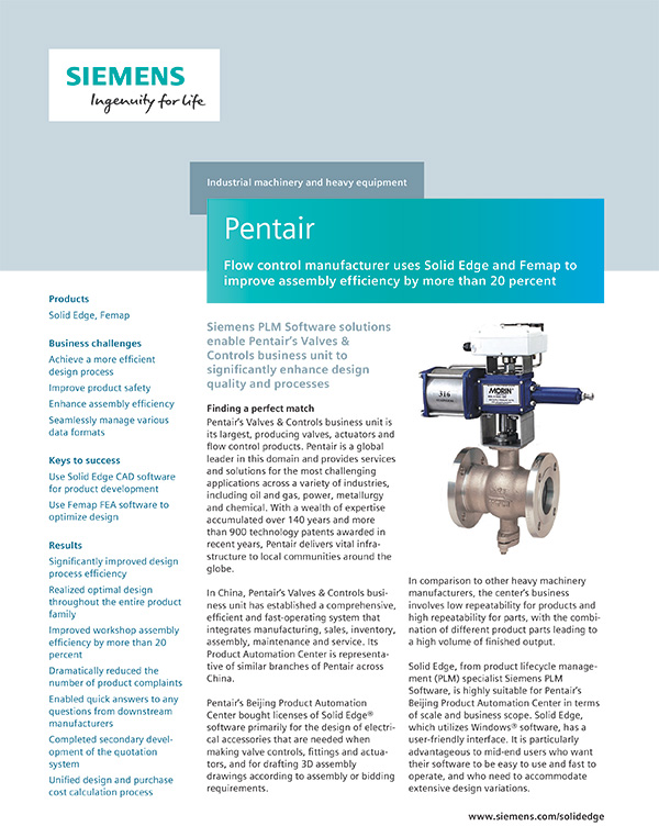 Siemens PLM Pentair Applied CAx 1
