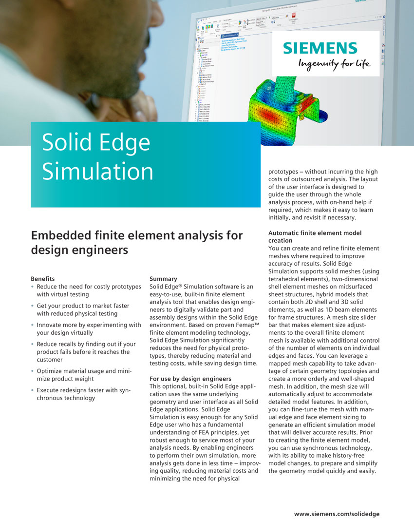 Solid Edge Simulation