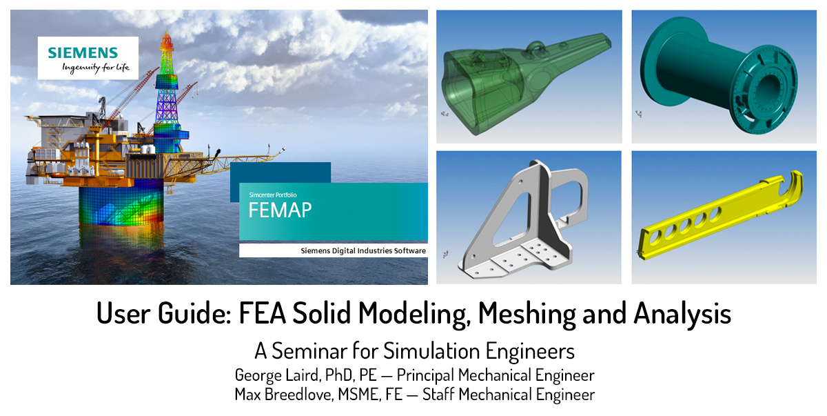 fea solid modeling, meshing, and analysis